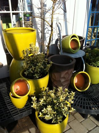 pots yard decor - Yard Decor